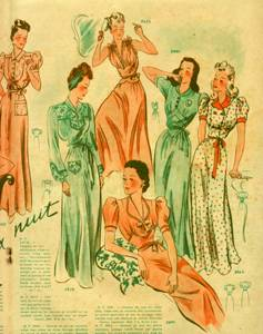 Vintage-ladies-dressing-gowns-and-slips-1940